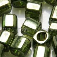 4mm方管日本珠金屬光-森林綠色--10g