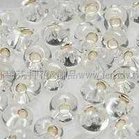 4mm包包珠-晶亮玻璃內鑲金箔-10g