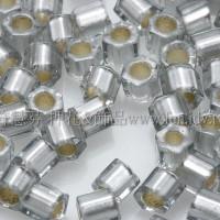 2mm短管日本珠灰內灌銀色10g