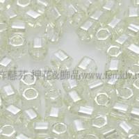 2mm短管日本珠透明檸檬萊姆綠色10g