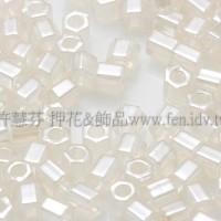 2mm短管日本珠斯里蘭卡珠光象牙白色10g