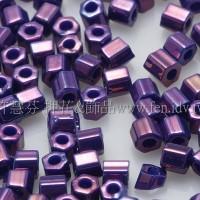 2mm短管日本珠金屬葡萄色10g