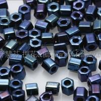 2mm短管日本珠金屬星空藍色10g