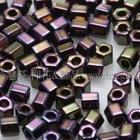 2mm短管日本珠金屬紫鳶尾花色10g