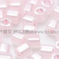 3mm短圓管日本珠絲綢茶玫瑰色10g
