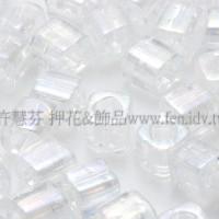 3mm短圓管日本珠絲綢雪白色10g
