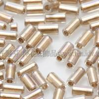 3mm短圓管日本珠水晶透明彩虹金色10g
