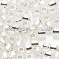 2mm短管日本珠透明銀彩色-10g