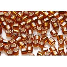 2mm短管日本珠半透明琥珀色-10g