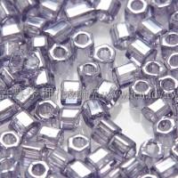 2mm短管日本珠紫丁香色-10g