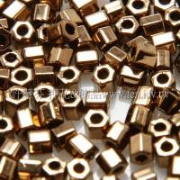 2mm短管日本珠可可金色-10g