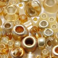 繽紛珠寶盒-金黃色系混合珠--10g