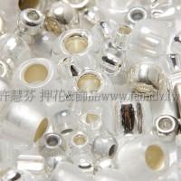 繽紛珠寶盒-銀白色系混合珠--10g