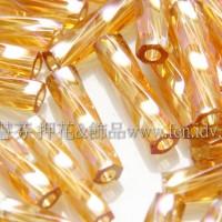 9mm日本螺旋管珠-七彩蜂蜜黃色10g