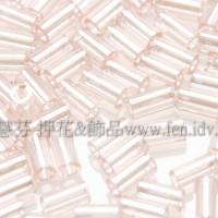 3mm短圓管日本珠珠光水蜜桃粉紅色10g