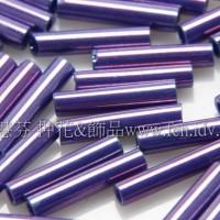 9mm長圓管日本珠紫藤色10g