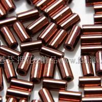 3mm短圓管日本珠金屬光-咖啡金色10g