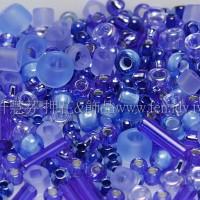 繽紛珠寶盒-極光藍寶石色系混合珠--10g