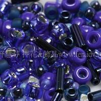 繽紛珠寶盒-藍色月光色系混合珠--10g