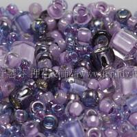繽紛珠寶盒-薰衣草花園色系混合珠--10g