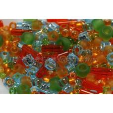 繽紛珠寶盒-熱帶夏威夷色系混合珠--10g
