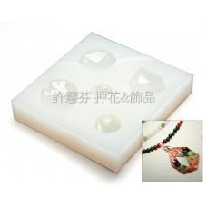 鑽石面項鍊組軟模