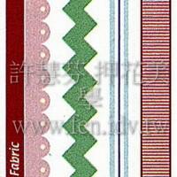 牛仔布質進口貼紙384