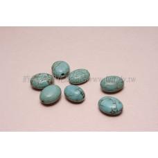 1825冰裂紋橢圓形綠松石18*13mm-2pcs