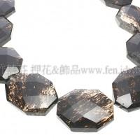 西瓜黑紋石-方形多切面-33x26mm-1個