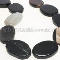 條紋原石瑪瑙29*20mm-1pcs