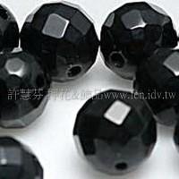 917 黑瑪瑙-圓珠- 10mm -5個
