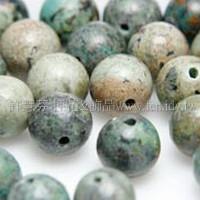 827 非洲松石-圓珠- 6mm -10個