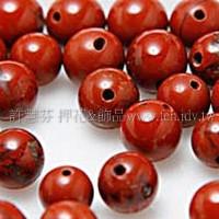 801 紅磚石-圓珠- 5mm -10個