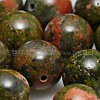 911 花綠石-圓珠- 10mm-5個