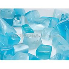 857 貓眼碎石-不規則形-藍  3*6mm -10g