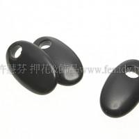 黑晶石橢圓扁形12x22mm1包-2個