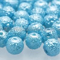 藍珠光雕花珠5mm-60個