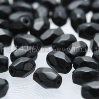 棗形珠黑5.5mm-50個