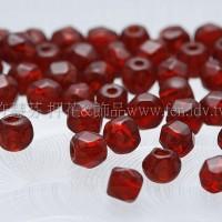 棗形珠酒紅色3mm-60個