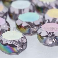 七彩光面車輪珠-透明-10*6mm-10個