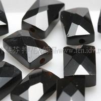 黑瑪瑙方形9*6mm-2個