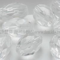 切角米粒形水晶石7*10mm-4個